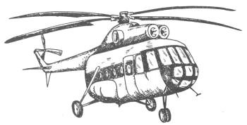 Как нарисовать вертолётов ми 8